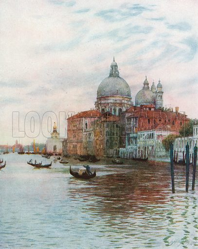 The Church of Sta. Maria della Salute, Venice. Illustration for Happy England by Marcus B Huish (A & C Black, 1909).