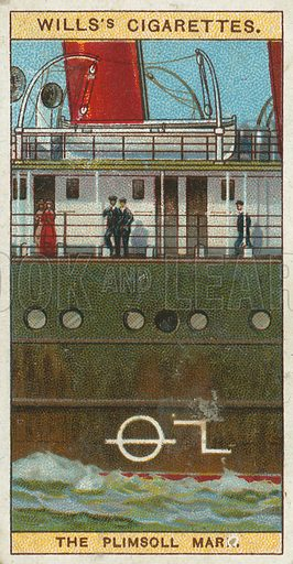 The Plimsoll Mark. Illustration from Wills's Do You Know cigarette card series, early 20th century.