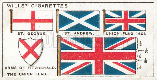 The Union Flag. Illustration from Wills's Do You Know cigarette card series, early 20th century.