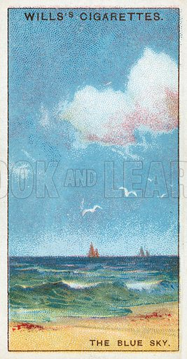 The Blue Sky. Illustration from Wills's Do You Know cigarette card series, early 20th century.