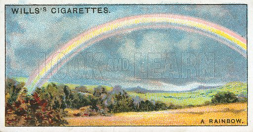 A Rainbow. Illustration from Wills's Do You Know cigarette card series, early 20th century.