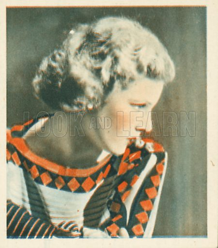Elissa Landi. Shots from the Films.  Early 20th century cigarette card by Godfrey Phillips.