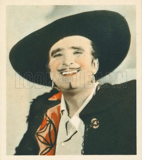 Douglas Fairbanks. Shots from the Films.  Early 20th century cigarette card by Godfrey Phillips.