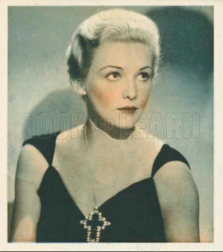 Madeleine Carroll. Shots from the Films.  Early 20th century cigarette card by Godfrey Phillips.