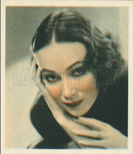 Delores Del Rio. Shots from the Films.  Early 20th century cigarette card by Godfrey Phillips.