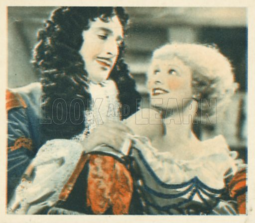 Sir Cedric Hardwicke and Anna Neagle. Shots from the Films.  Early 20th century cigarette card by Godfrey Phillips.