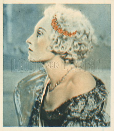 Elizabeth Bergner. Shots from the Films.  Early 20th century cigarette card by Godfrey Phillips.