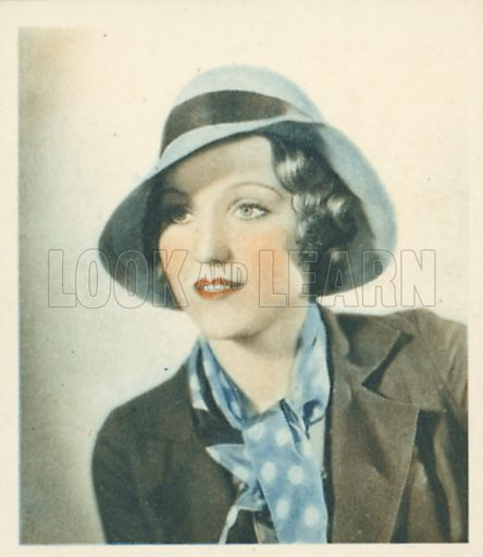 Constance Cummings. Shots from the Films.  Early 20th century cigarette card by Godfrey Phillips.