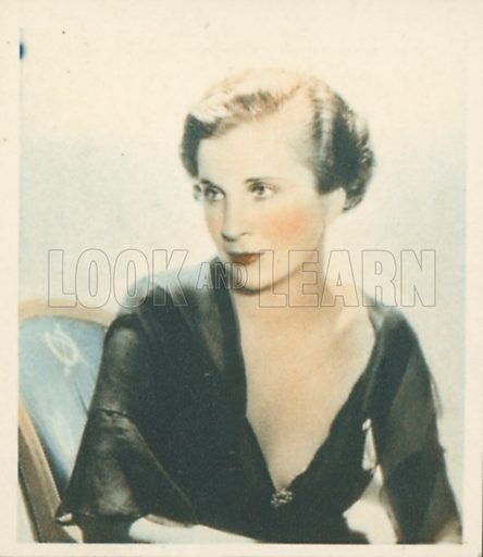 Diana Wynyard. Shots from the Films.  Early 20th century cigarette card by Godfrey Phillips.