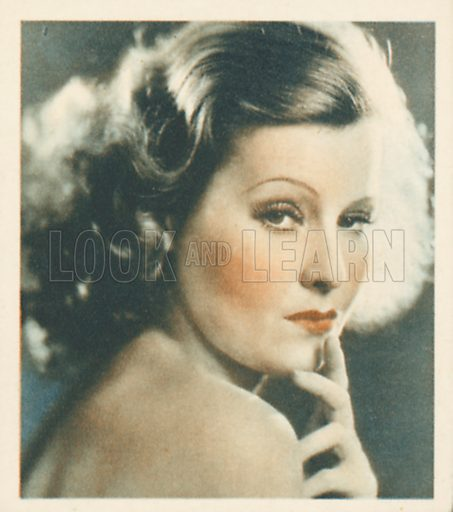 Lilian Harvey. Shots from the Films.  Early 20th century cigarette card by Godfrey Phillips.
