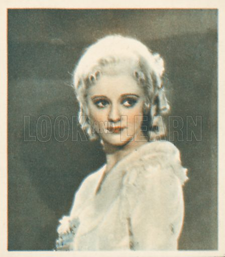 Heather Angel. Shots from the Films.  Early 20th century cigarette card by Godfrey Phillips.