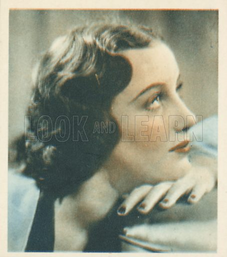 Judith Allen. Shots from the Films.  Early 20th century cigarette card by Godfrey Phillips.