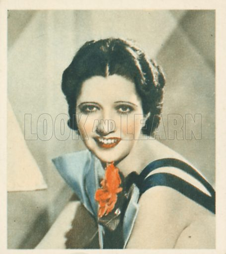Kay Francis. Shots from the Films.  Early 20th century cigarette card by Godfrey Phillips.
