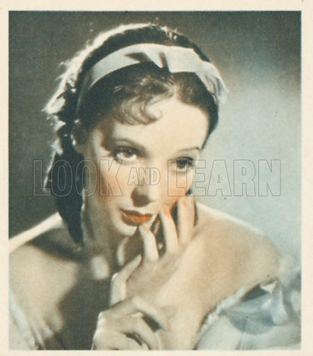 Jessie Matthews.Shots from the Films.  Early 20th century cigarette card by Godfrey Phillips.