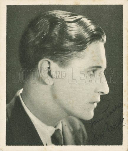 Ivor Novello. Who's who in British films.  Issued by the Spinnet House.  Early 20th century.