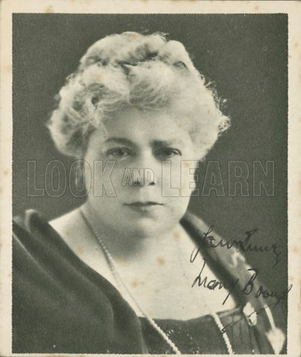 Mary Brough. Who's who in British films.  Issued by the Spinnet House.  Early 20th century.