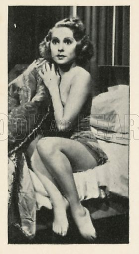 June Clyde in School for Husbands. Scenes from the films.  Issued by R & J Hill. Early 20th century card.