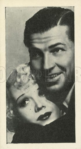 Marion Martin and Bruce Cabot in Sinners in Paradise.Scenes from the films.  Issued by R & J Hill. Early 20th century card.