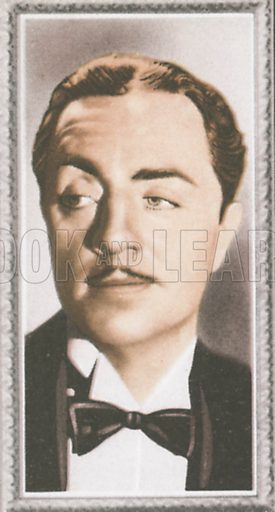 William Powell. Stars of the screen.  Early 20th century card by Godfrey Phillips.