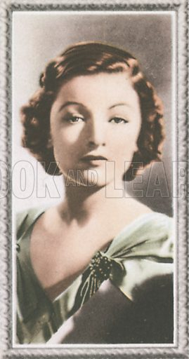 Myrna Loy. Stars of the screen.  Early 20th century card by Godfrey Phillips.