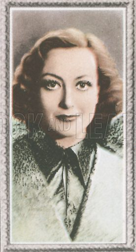 Joan Crawford. Stars of the screen.  Early 20th century card by Godfrey Phillips.