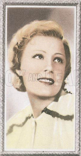 Irene Dunne. Stars of the screen.  Early 20th century card by Godfrey Phillips.