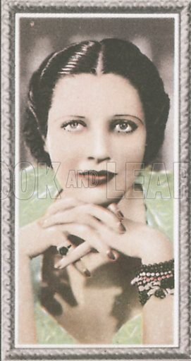 Kay Francis. Stars of the screen.  Early 20th century card by Godfrey Phillips.