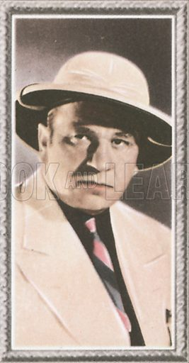 Wallace Beery. Stars of the screen.  Early 20th century card by Godfrey Phillips.
