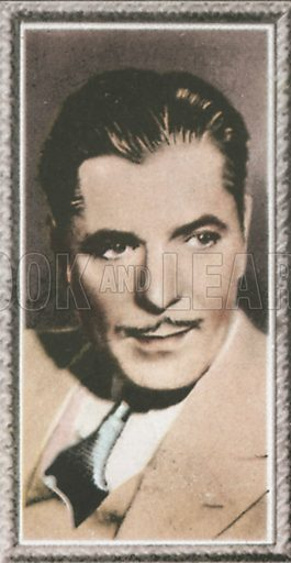 Warner Baxter. Stars of the screen.  Early 20th century card by Godfrey Phillips.