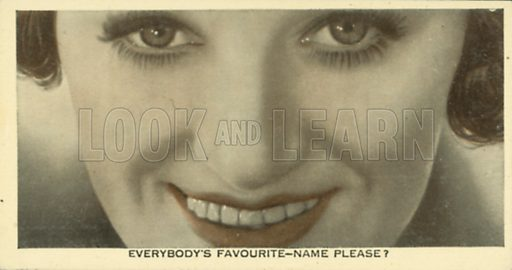 Gracie Fields. Who is this?  Ardath cigarette card, early 20th century.