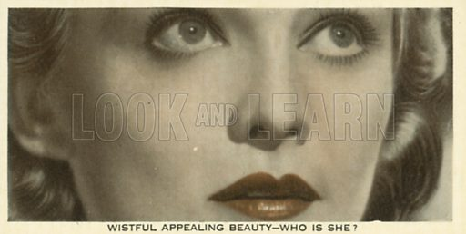 Madeleine Carroll. Who is this?  Ardath cigarette card, early 20th century.