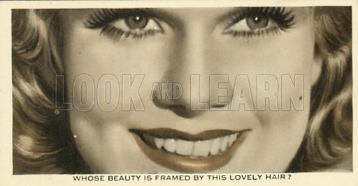 Jean Harlow. Who is this?  Ardath cigarette card, early 20th century.