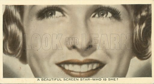 Joan Bennett. Who is this?  Ardath cigarette card, early 20th century.