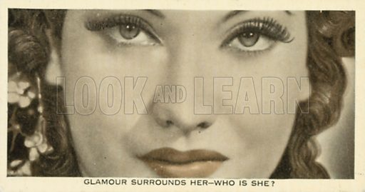 Merle Oberon. Who is this?  Ardath cigarette card, early 20th century.