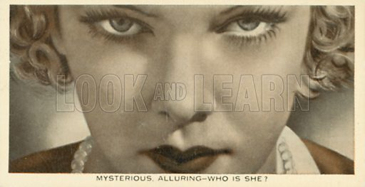 Elissa Landi. Who is this?  Ardath cigarette card, early 20th century.