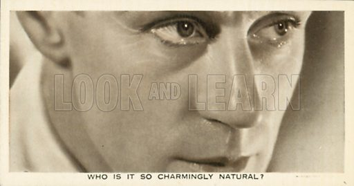 Leslie Howard. Who is this?  Ardath cigarette card, early 20th century.