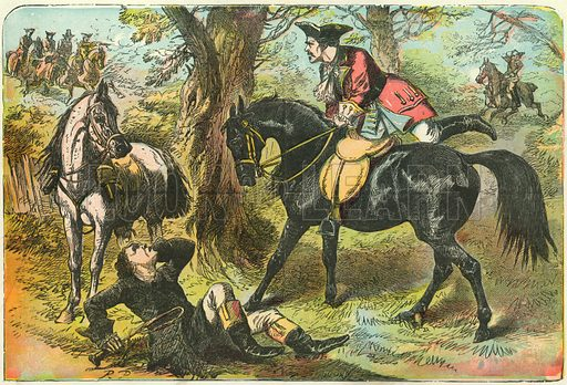 Dick Turpin gains possession of Black Bess.