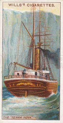 "The ""Terra Nova"". Illustration for Wills's Celebrated Ships cigarette card series (early 20th century)."