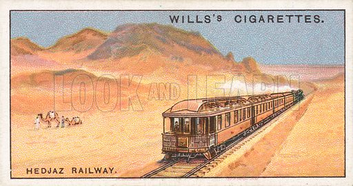 Hedjaz Railway. Illustration for Wills's Engineering Wonders cigarette card series (early 20th century).