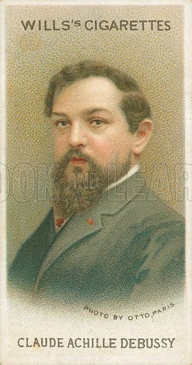 Claude Achille Debussy. Illustration for Wills's Musical Celebrities cigarette card series (early 20th century).