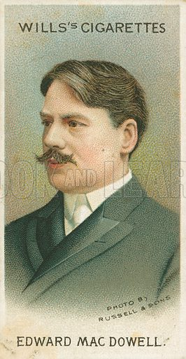 Edward Mac Dowell. Illustration for Wills's Musical Celebrities cigarette card series (early 20th century).
