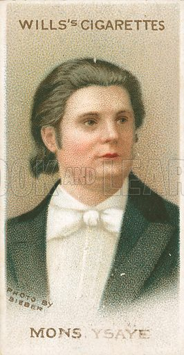 Mons. Ysaye. Illustration for Wills's Musical Celebrities cigarette card series (early 20th century).