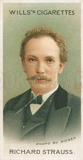 Richard Strauss. Illustration for Wills's Musical Celebrities cigarette card series (early 20th century).