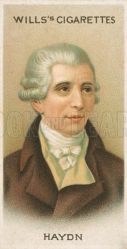 Haydn. Illustration for Wills's Musical Celebrities cigarette card series (early 20th century).