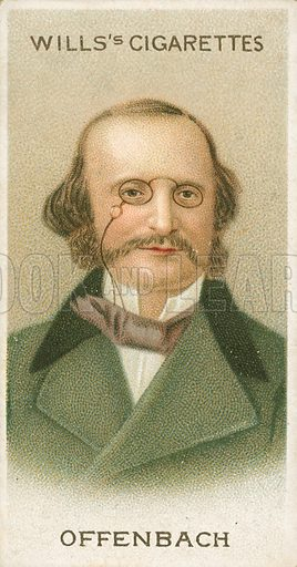 Offenbach. Illustration for Wills's Musical Celebrities cigarette card series (early 20th century).
