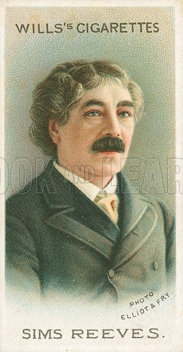 Sims Reeves. Illustration for Wills's Musical Celebrities cigarette card series (early 20th century).
