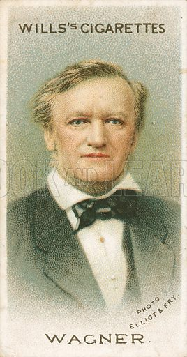 Wagner. Illustration for Wills's Musical Celebrities cigarette card series (early 20th century).