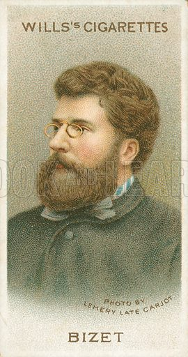 Bizet. Illustration for Wills's Musical Celebrities cigarette card series (early 20th century).