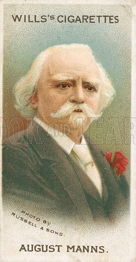 August Manns. Illustration for Wills's Musical Celebrities cigarette card series (early 20th century).