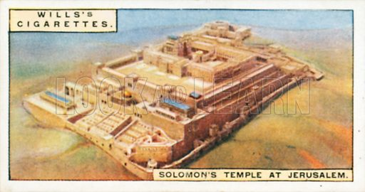 Solomon's Temple at Jerusalem. Illustration for Wills's Wonders of the Past cigarette card series (early 20th century).